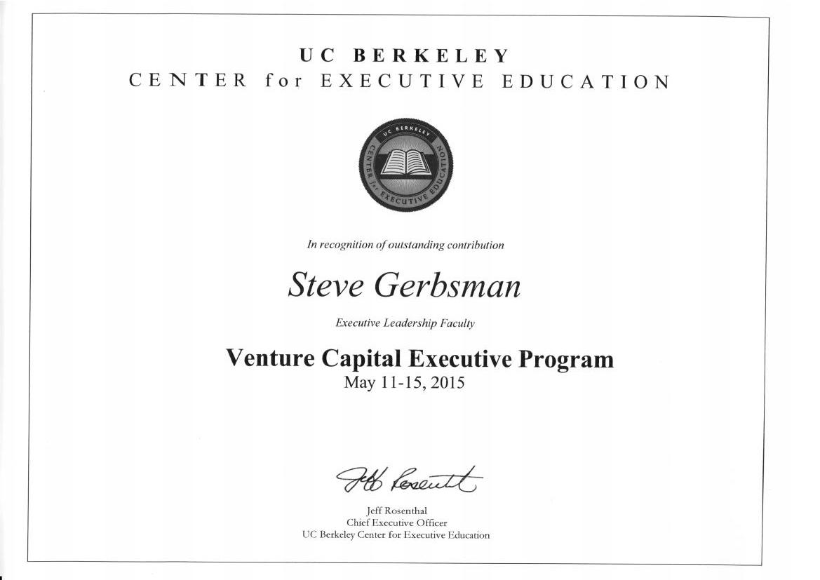 Steve Gerbsman – UC Berkeley Venture Capital Executive